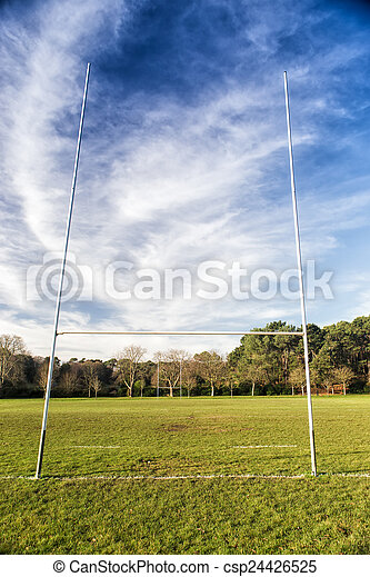 Rugby field in a sunny day - csp24426525
