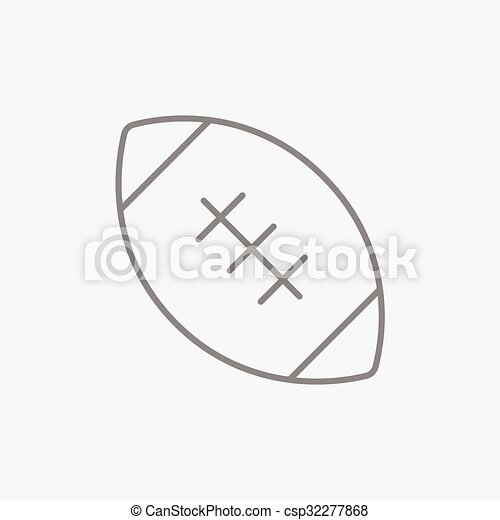 Rugby football ball line icon. - csp32277868