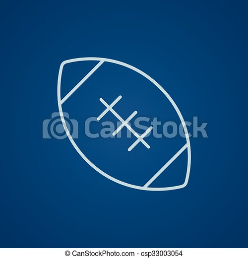Rugby football ball line icon. - csp33003054