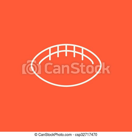 Rugby football ball line icon. - csp32717470