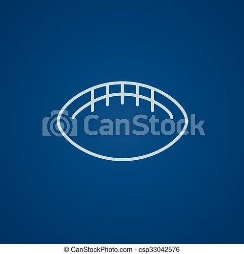 Rugby football ball line icon. - csp33042576