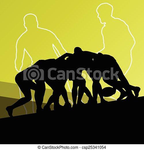 rugby, hommes, jeune, joueur, actif, sport - csp25341054