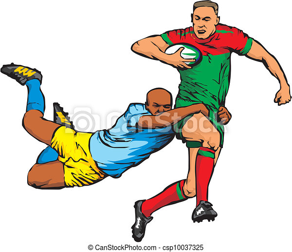 full contact team sport rugby union vector illustration search rh canstockphoto com rugby clipart pictures ballon rugby clipart