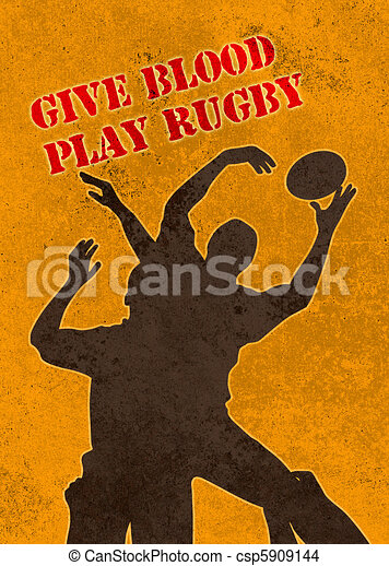 rugby player catching ball in lineout - csp5909144
