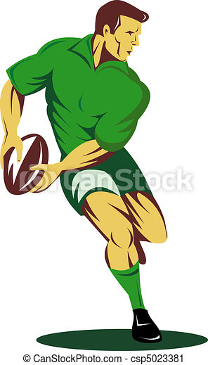 rugby player passing ball  - csp5023381