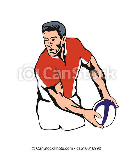 Rugby player passing ball - csp16016992