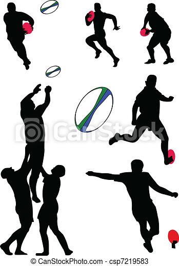 rugby, vecteur, -, collection - csp7219583