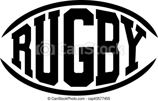 rugby word in shape of a rugby ball rh canstockphoto com rugby ball clipart png rugby ball clipart images