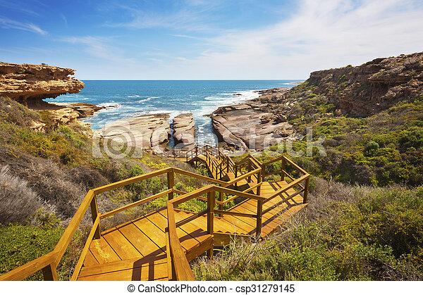 Rugged, Untouched, Rocky Coastline - csp31279145