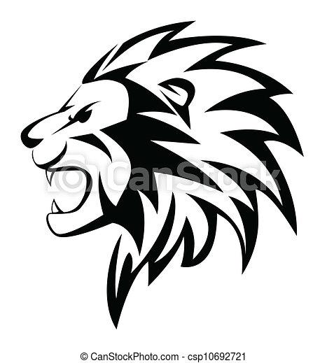 ruggito, leone - csp10692721