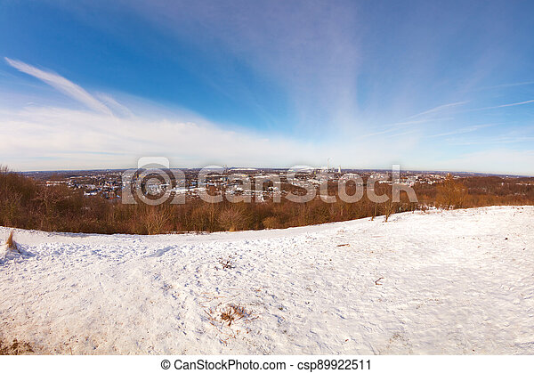 Ruhr area in winter - csp89922511