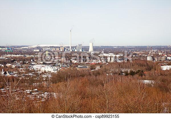 Ruhr area in winter - csp89923155