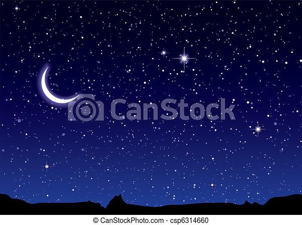 ruimte, landscape, maan - csp6314660