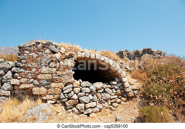 Ruin at the top of Monemvasia - csp5356100