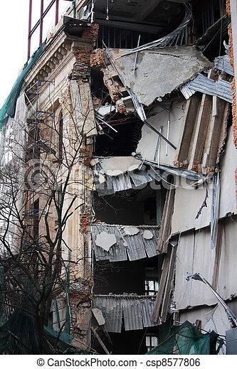 Ruined building - csp8577806
