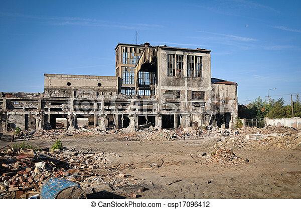 Ruined buildings - csp17096412