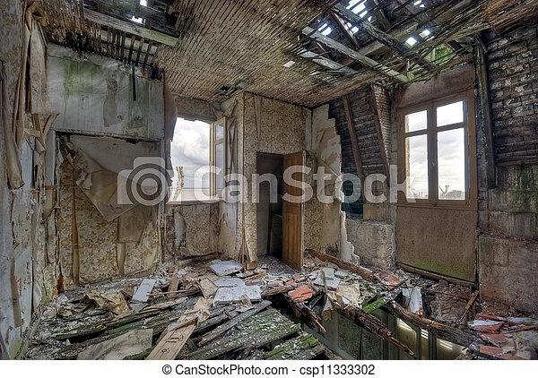 Ruined house - csp11333302