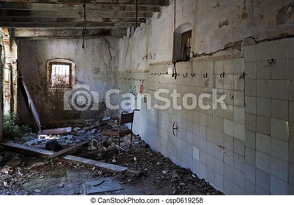 Ruined slaughterhouse - csp0619258