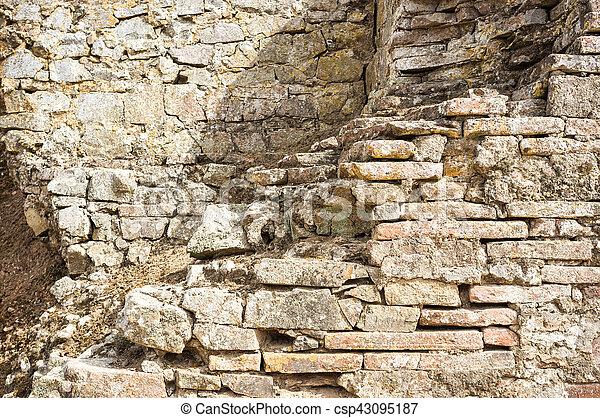 ruined wall - csp43095187