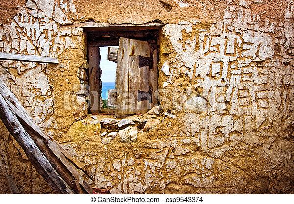 Ruined Wall - csp9543374