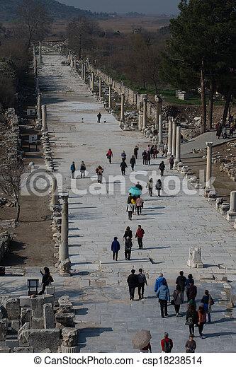 ruins columns street - csp18238514