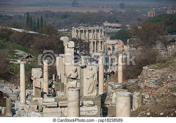 ruins columns street - csp18238589