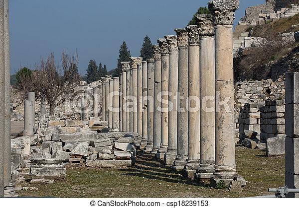 ruins columns street - csp18239153