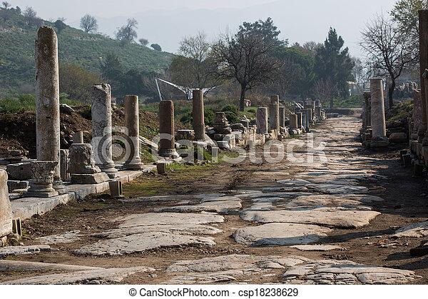 ruins columns street - csp18238629