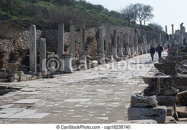 ruins columns street - csp18238740