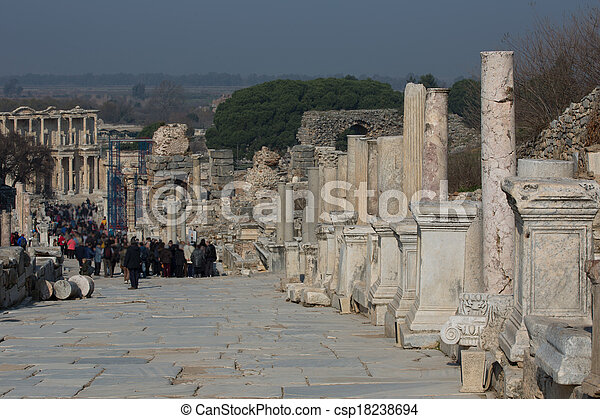 ruins columns street - csp18238694
