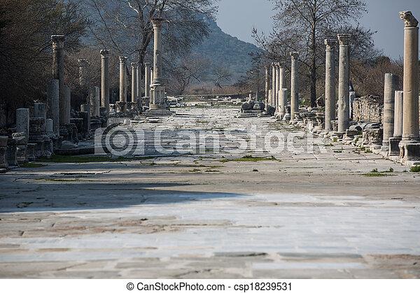 ruins columns street - csp18239531