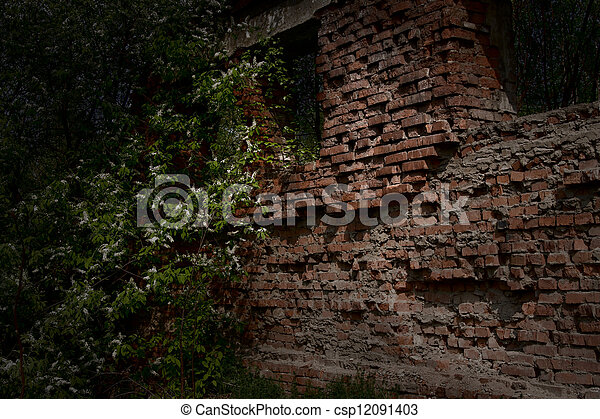 Ruins of an old building - csp12091403
