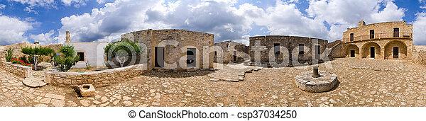 Ruins of ancient Aptera on Crete island, Greece - csp37034250