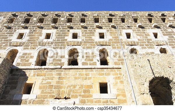 Ruins of Aspendos in Turkey - csp35434677