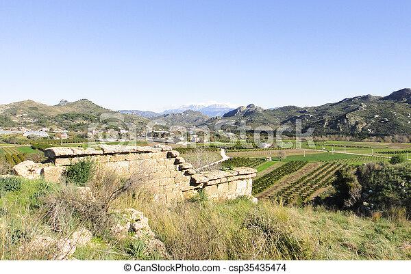 Ruins of Aspendos in Turkey - csp35435474