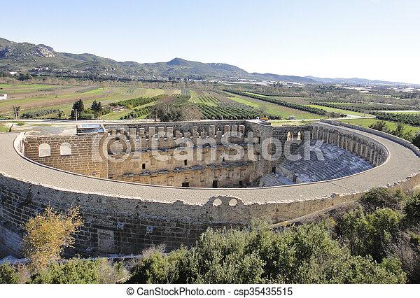 Ruins of Aspendos in Turkey - csp35435515