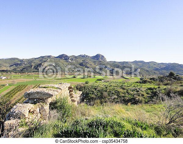 Ruins of Aspendos in Turkey - csp35434758