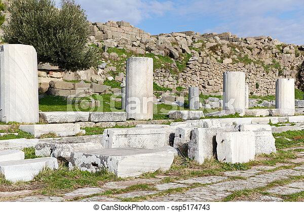 Ruins of Pergamon in Turkey - csp5174743