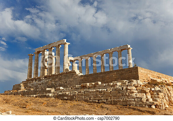 Ruins of Poseidon temple - csp7002790