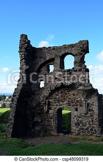 Ruins of Saint Anthony's Chapel - csp48099319