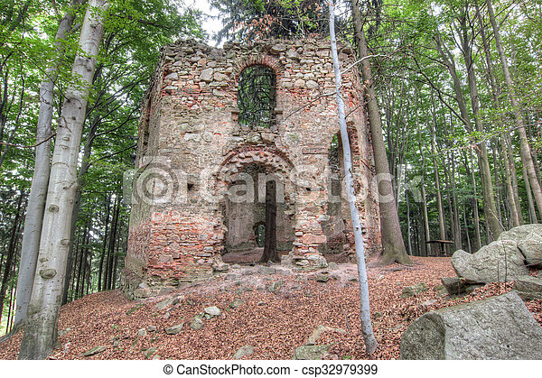 Ruins of the Baroque chapel of Saint Mary Magdalene - csp32979399