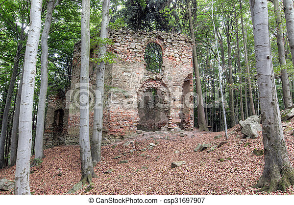 Ruins of the Baroque chapel of Saint Mary Magdalene - csp31697907