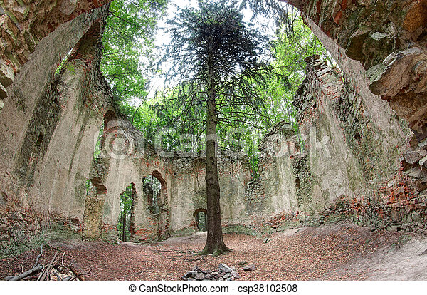 Ruins of the Baroque chapel of Saint Mary Magdalene - csp38102508