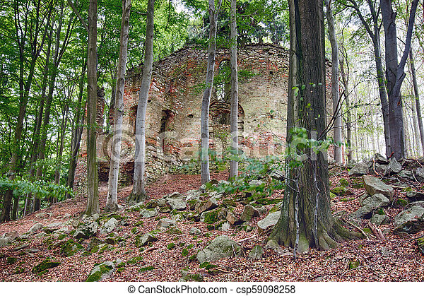 Ruins of the Baroque chapel of St. Mary Magdalene - csp59098258