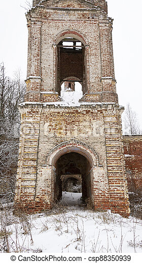 ruins of the old bell tower - csp88350939