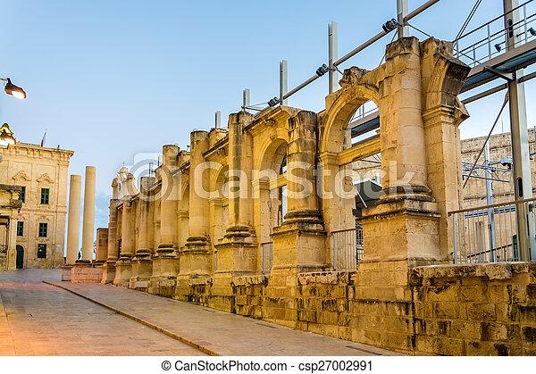 Ruins of the Royal Opera House in Valletta - Malta - csp27002991