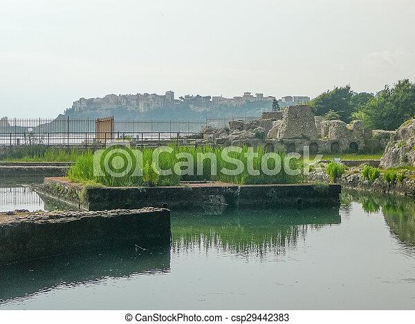 Ruins of Villa Tiberio in Sperlonga - csp29442383