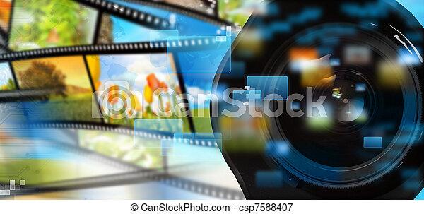 ruisseler, multimédia - csp7588407