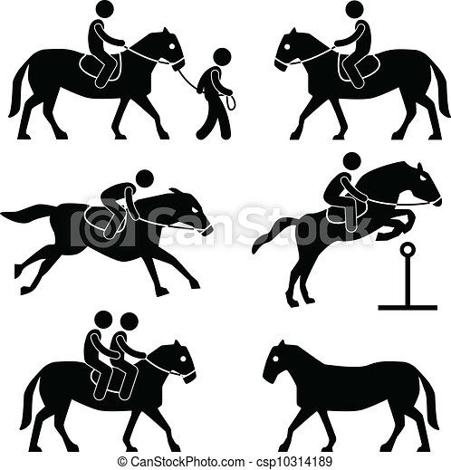 ruiter, paardrijden, jockey, paarde - csp10314189
