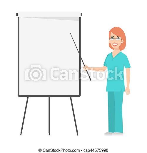 ruivo, enfermeira, pontos, carta aleta - csp44575998